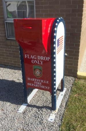 Flag drop box