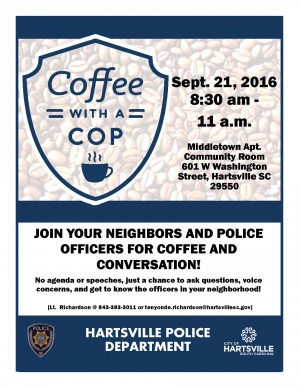 Coffee with a Cop Sept. 2016
