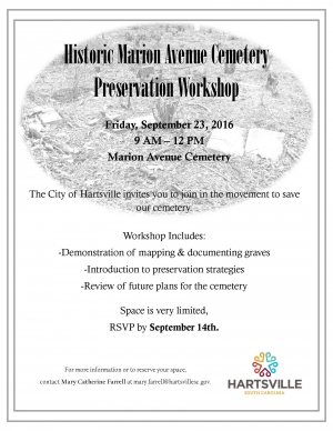 Marion Ave Cemetery Workshop
