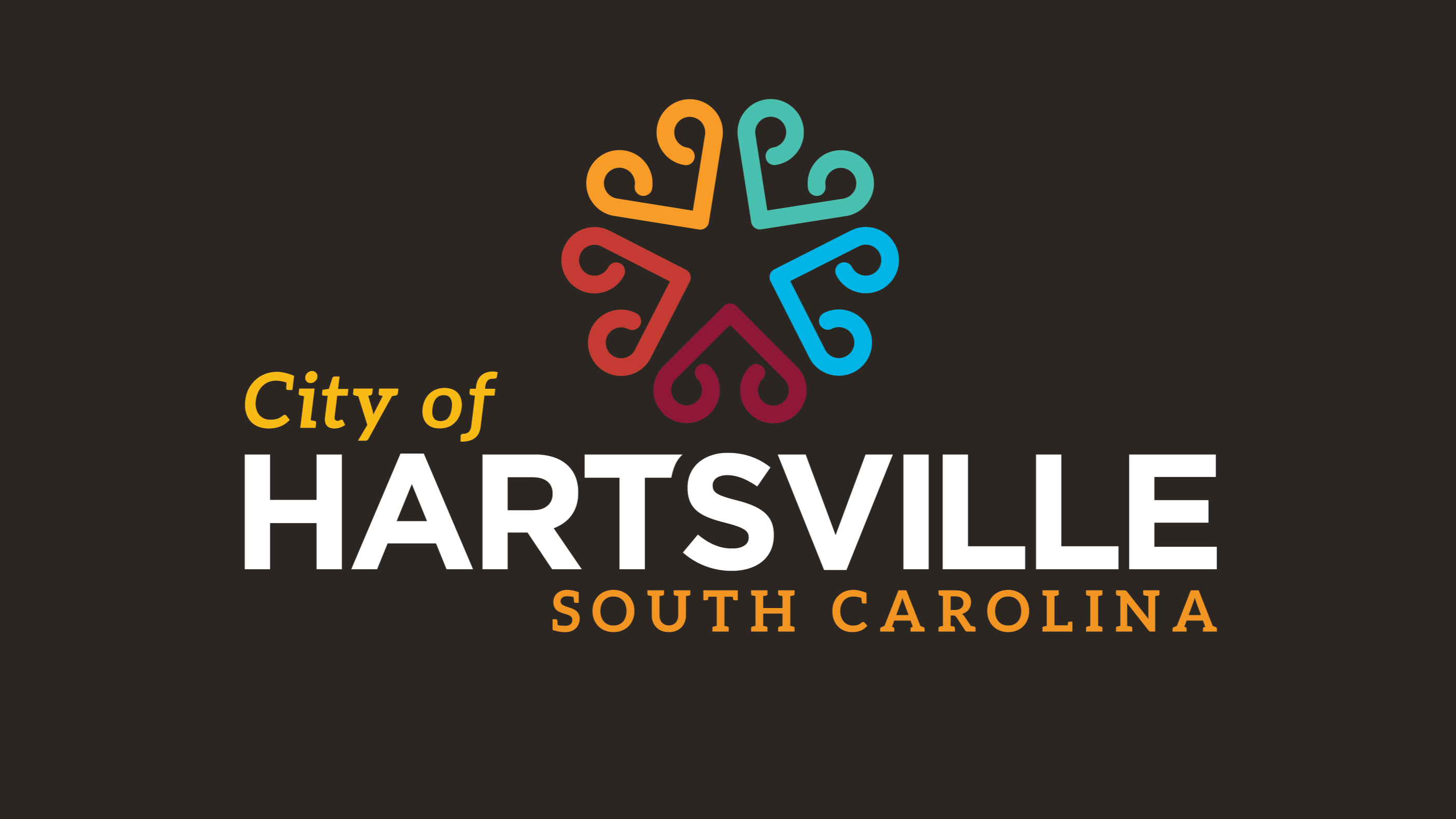 City of Hartsville logo on a dark background.