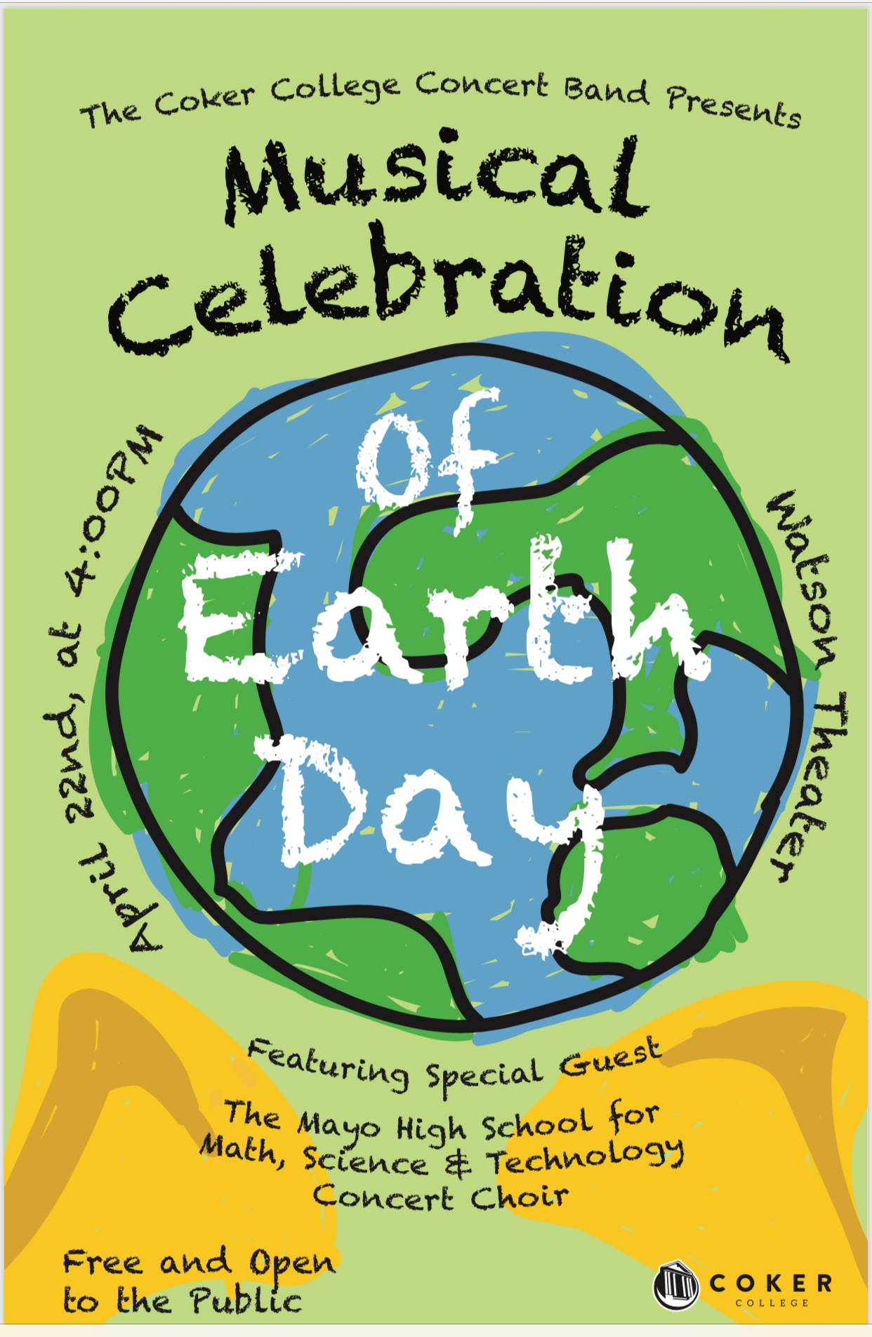 Coker College Campus Map.City Of Hartsville Coker College Band Earth Day Concert