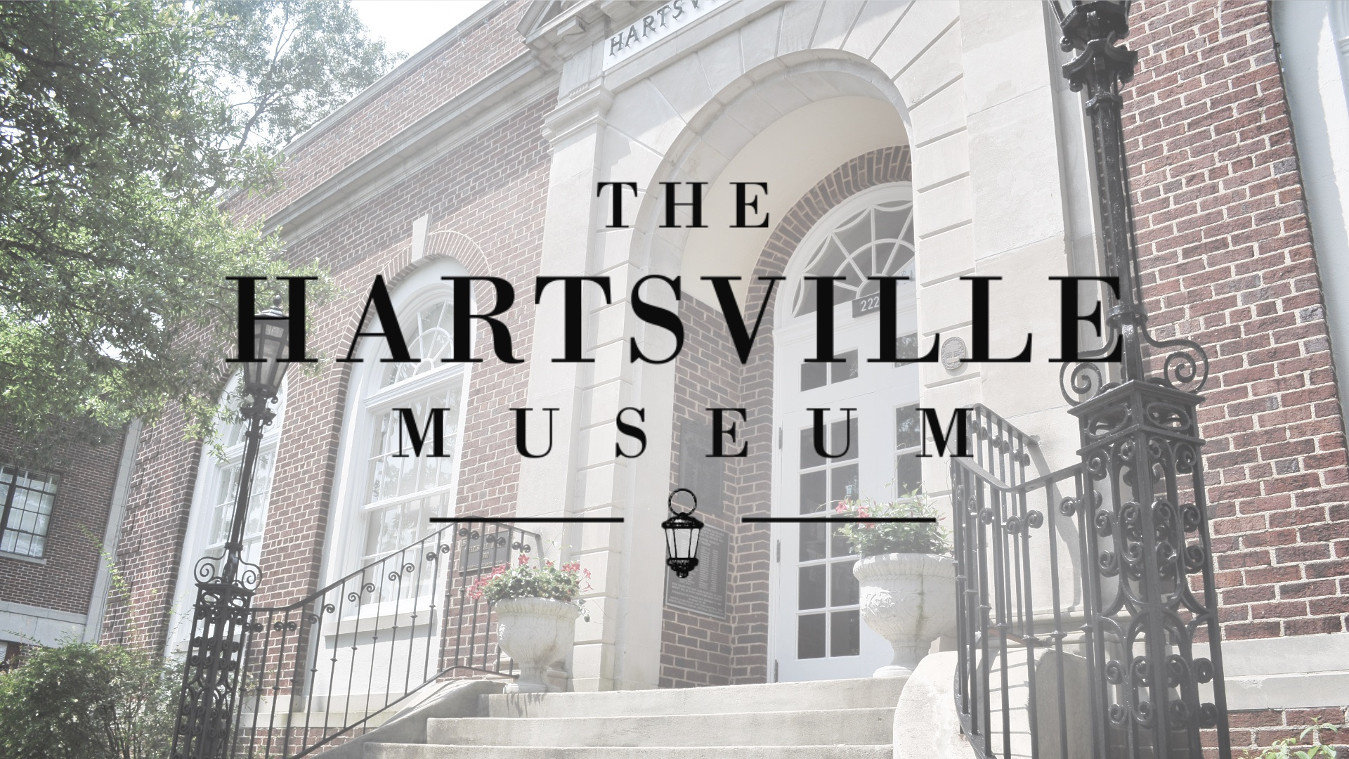 The Hartsville Museum facade and logo.